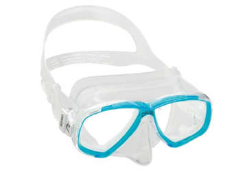 Immagine di Maschera Perla trasparente/acquamarina adulto