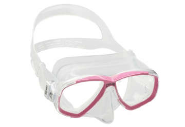 Immagine di Maschera Perla trasparente/rosa adulto