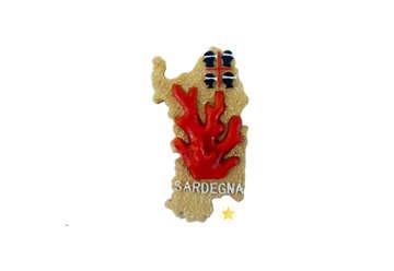Immagine di Magnete resina mappa Corallo Sardegna