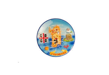 Immagine di Piatto in ceramica con rilievo Sardegna 10cm