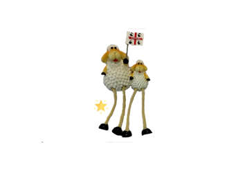 Immagine di Magnete resina Pecora con piccolo gambe snodate Sardegna