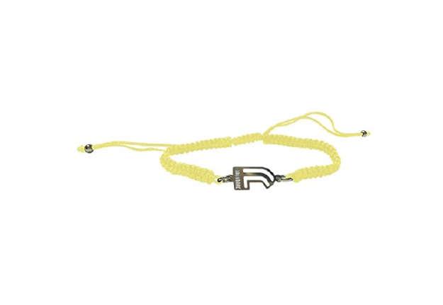 Immagine di Bracciale in corda giallo e J in acciaio