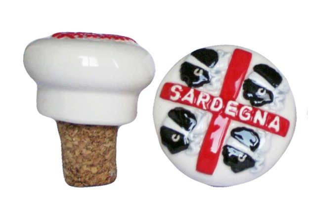 Immagine di Tappo ceramica Sardegna '4 Mori'