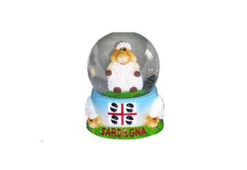 Immagine di Pallaneve vetro con pecora Sardegna