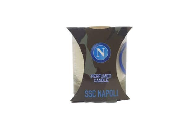 Immagine di Candela in vetro SSC.Napoli da collezione