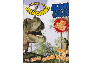 Immagine di Album Color L'attacco dei dinosauri con attacca e stacca