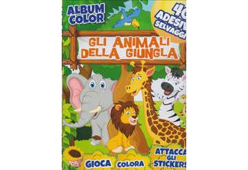 Immagine di Album ColorGlli animali della giungla con attacca e stacca