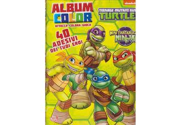 Immagine di Album Color Ninja Turtles con attacca e stacca numeri assortiti