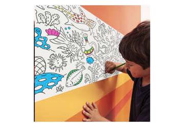 Immagine di Rotolo adesivo da colorare sea con pastelli