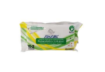 Immagine di Carta igienica umidificata biodegradabile aloe-camomilla 10pz+2omaggio