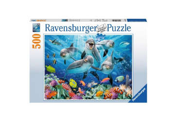 Immagine di Puzzle Delfini nella barriera corallina 500pz