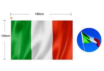 Immagine di Bandiera Italia tricolore 120x180 cm senza asta
