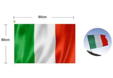 Immagine di Bandiera ITALIA TRICOLORE 60x90 cm senza asta