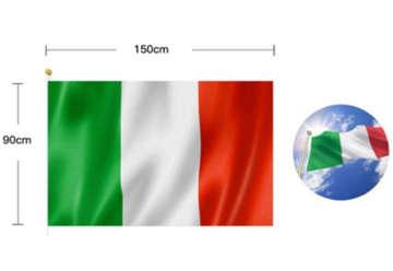 Immagine di Bandiera ITALIA TRICOLORE 90x150 cm senza asta
