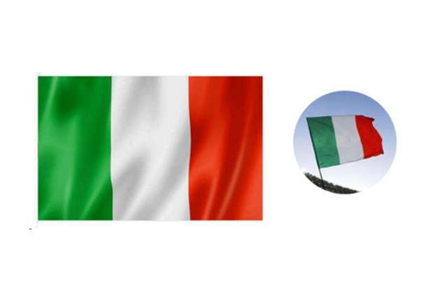 Immagine di Bandiera Italia tricolore 60x95 cm c/occhiello senza asta