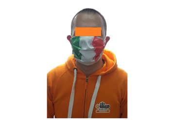 Immagine di Mascherina protettiva naso e bocca Tricolore - Italia