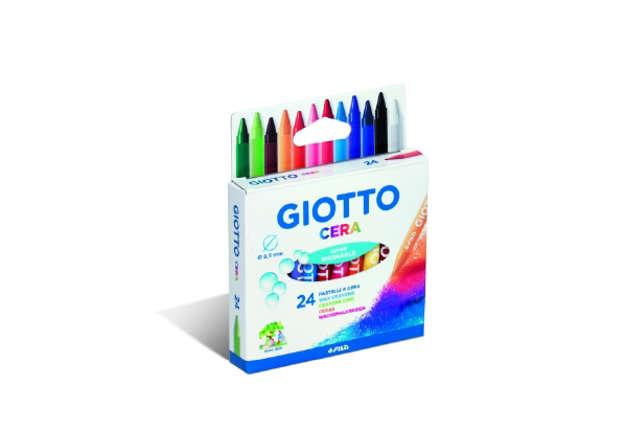 Immagine di Giotto Pastelli A Cera 24 Pz Super Washable