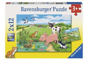 Immagine di Puzzle Cuccioli di campagna 2x12pz