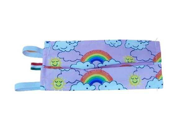 Immagine di Mascherina cotone lavabile nuvole rosa