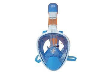Immagine di Maschera subacquea granfacciale silicone blu adulto