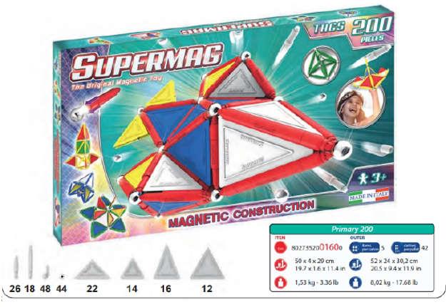 Immagine di Supermag - Tags Primary 200pz