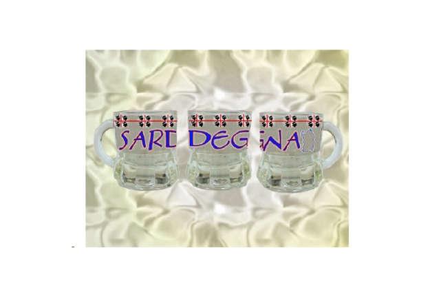 Immagine di Bicchiere vetro con manico Sardegna