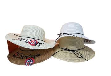 Immagine di Cappello donna Sardegna con frangia e dettaglio perla colori ass
