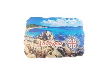 Immagine di Magnete resina rettangolare Sardegna 7x5cm