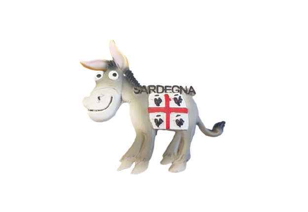 Immagine di Magnete resina asino Sardegna 7x7cm