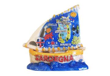 Immagine di Barchetta ceramica grande Sardegna