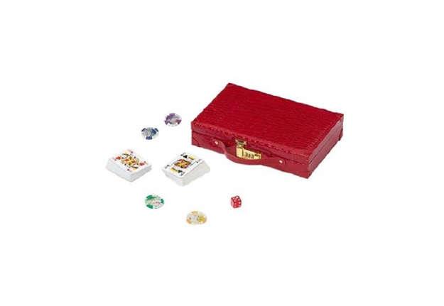 Immagine di Valigetta compreta di dadi, carte da gioco e chips