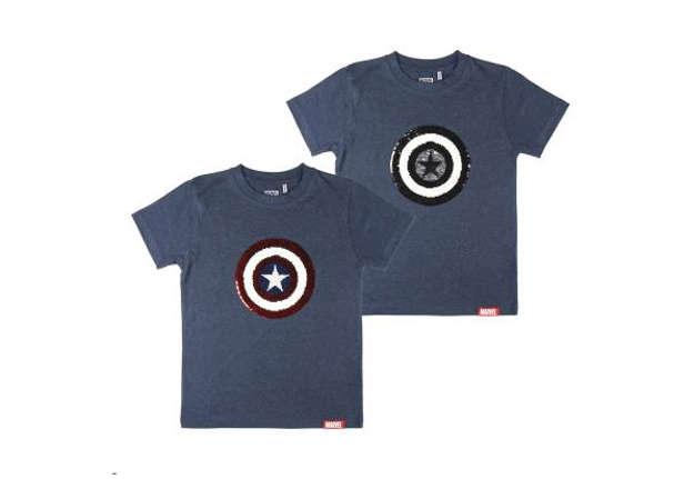 Immagine di T-shirt Marvel Capitan America paillettes reversibili tg. 12 anni