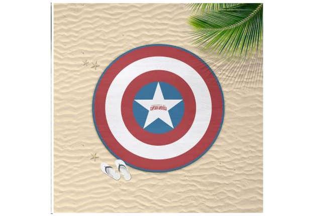 Immagine di Telo mare circolare Avengers Capitan America 130cm