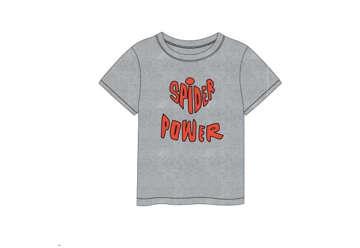Immagine di T-shirt Spiderman grigia tg.5 anni