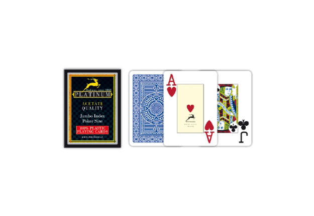 Immagine di Carte poker acetato jumbo index blu