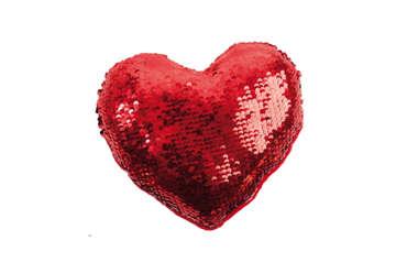Immagine di Cuore con paillettes reversibile rosso/oro piccolo