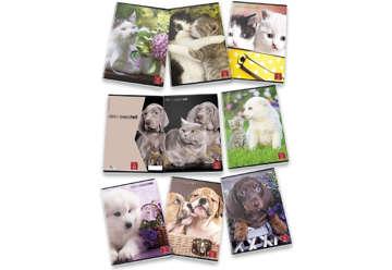 Immagine di Quaderno A4 Dolci cuccioli 1 rigo con margine 0C