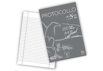 Immagine di Fogli protocollo righe uso bollo 30pz