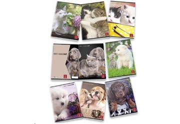 Immagine di Quaderno A4 Dolci cuccioli quadretti 5M con margine 0Q
