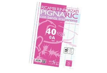 Immagine di Ricambi Pigna A4 rinforzati righe 1 e 2 elementare 0A 40fogli