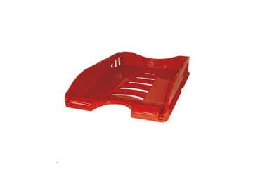 Immagine di Vaschetta archiviazione A4 rosso 26x34x6.5cm