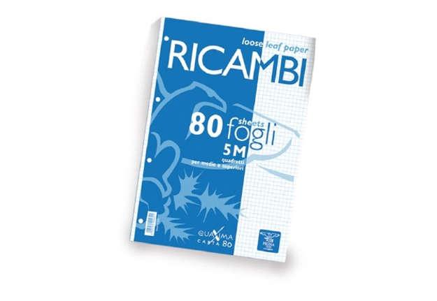 Immagine di Ricambi Pigna A4 quadretti 5M 80fogli