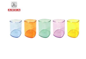 Immagine di Bicchiere portapenne trasparente 9x7cm