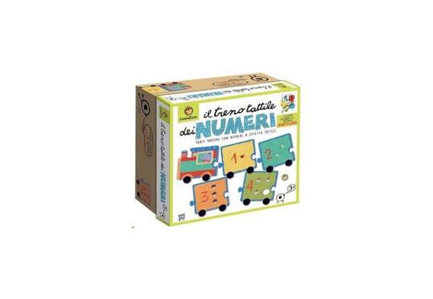 Immagine di Giochi Montessori - Il treno tattile dei numeri