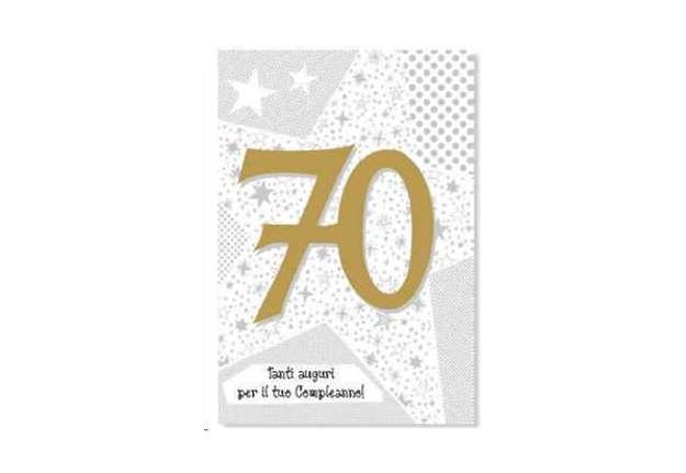 Immagine di Biglietto buon compleanno 70 anni