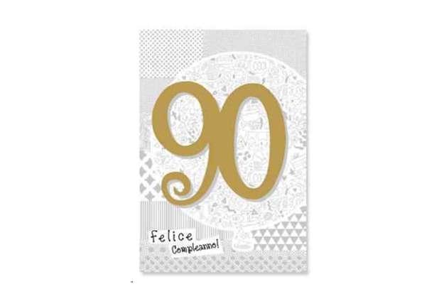 Immagine di Biglietto buon compleanno 90 anni