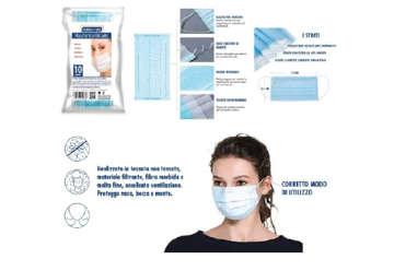 Immagine di Confezione 10 mascherine chirurgiche tre strati