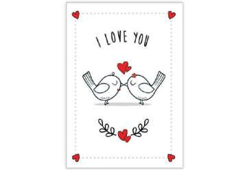 Immagine di Biglietto Amore uccellini
