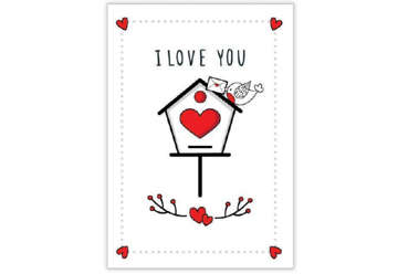 Immagine di Biglietto Amore cassetta lettere