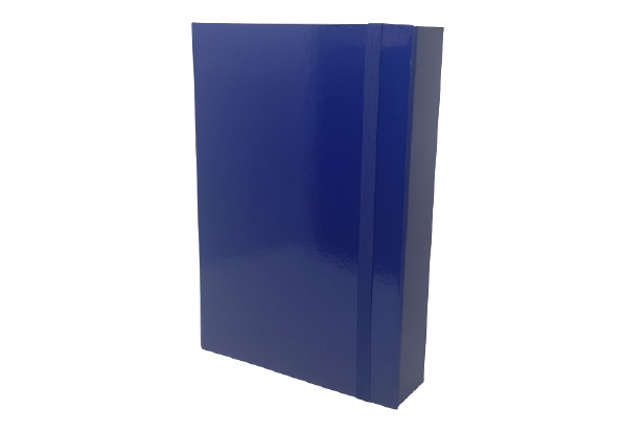 Immagine di Raccoglitore 3 lembi dorso 7cm blu con elastico